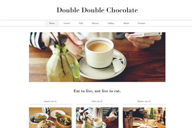 WordPress-Theme「Double-Double-Chocolate」