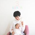 赤ちゃん生誕3ヶ月記念の撮影会をしました!