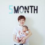 赤ちゃん生誕5ヶ月記念の撮影会をしました!
