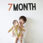 赤ちゃん生誕7ヶ月記念の撮影会をしました!