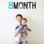 赤ちゃん生誕8ヶ月記念の撮影会をしました!