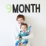 赤ちゃん生誕9ヶ月記念の撮影会をしました!