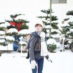 名古屋に雪が積もったので、赤ちゃんに初めての雪を見せてみました!