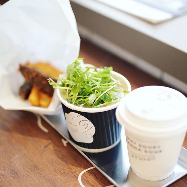 名古屋パルコ西館に今日オープンしたis it Soup?にスープ食べに来たよ。サラダ豚汁とポテトとコーヒーのセット。うまい!#オニマガ名古屋散歩・#isitsoup #parco #nagoya #sakae #suop #coffee #栄 #スープ (Instagram)