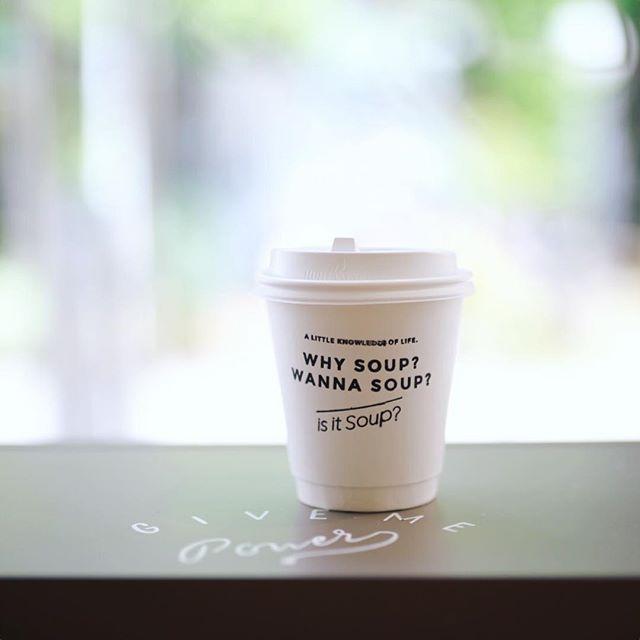朝から美味しいごはん3杯も食べて満腹なので、お昼はis it soup?でコーヒーだけ。うまい!#オニマガ名古屋散歩 (Instagram)