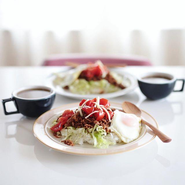 今日のお昼ご飯は #タコライス 。うまい! (Instagram)