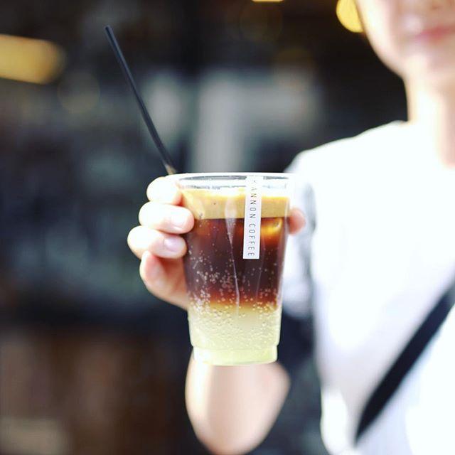 #kannoncoffee で3時のコーヒー休憩。今日からはじまったエスプレッソレモネード。うまい!#オニマガ名古屋散歩 #カンノンコーヒー (Instagram)