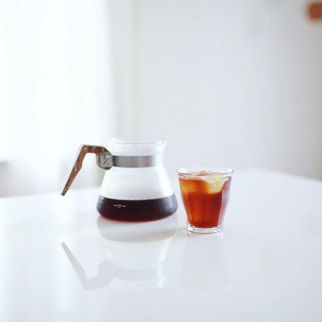 グッドモーニング水出しコーヒー。今日の朝ははちょっと寒い。うまい! (Instagram)