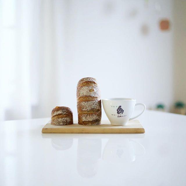 円頓寺のパン屋さん芒種のオレンジとアールグレーのやつでグッドモーニングコーヒー。うまい! (Instagram)