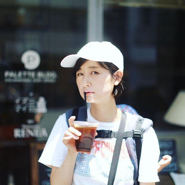馬喰町の #イズマイ に寄り道してアイスコーヒーをテイクアウト。うまい!そしてピューっと名古屋に帰ってきたー。#オニマガ東京散歩 (Instagram)