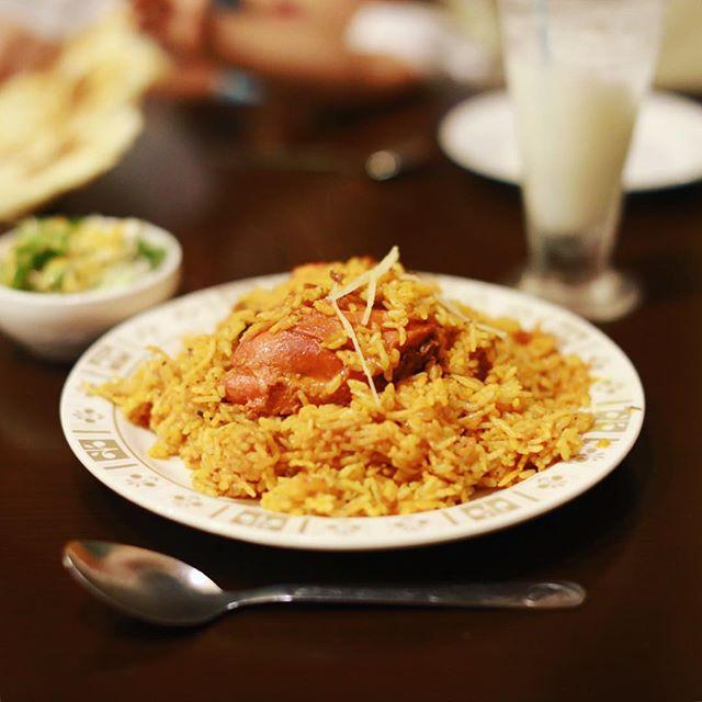 矢場町のインドカレーさんノルジャハンにチキンビリヤニ食べに来たよ。うまい!#オニマガ名古屋散歩 (Instagram)