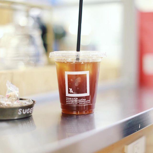 名古屋パルコの&EATで食後のコーヒータイム。アイスコーヒー、うまい!#オニマガ名古屋散歩・#アンドイート #andeat #矢場町カフェ #名古屋カフェ (Instagram)