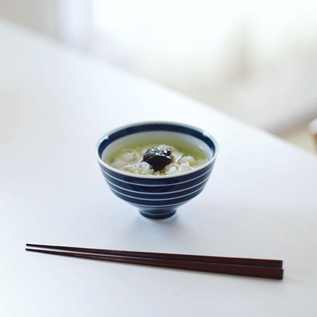 グッドモーニング奈良漬けの冷やし茶漬け。うまい! (Instagram)