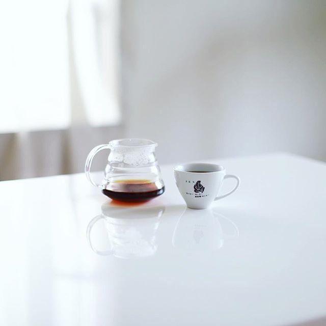 グッドモーニングコーヒー。誰も起きてこない静かな朝。うまい! (Instagram)