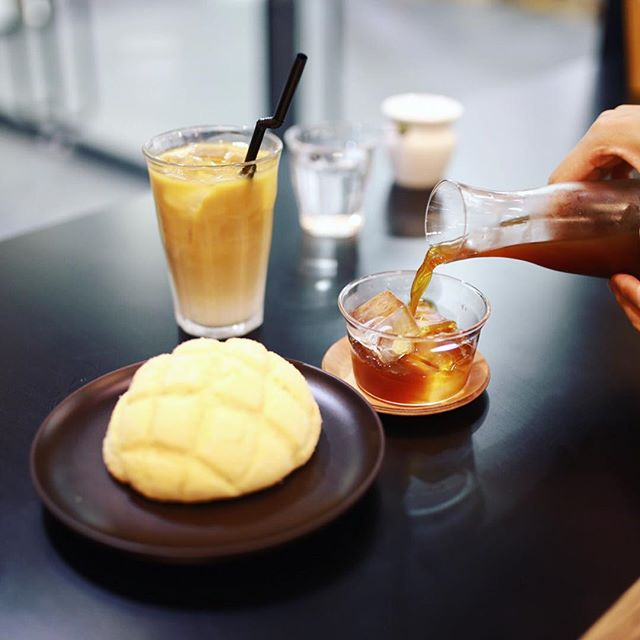NORDIC STYLE CAFEでメロンパン&アイスコーヒー休憩。うまい!#オニマガ名古屋散歩 (Instagram)