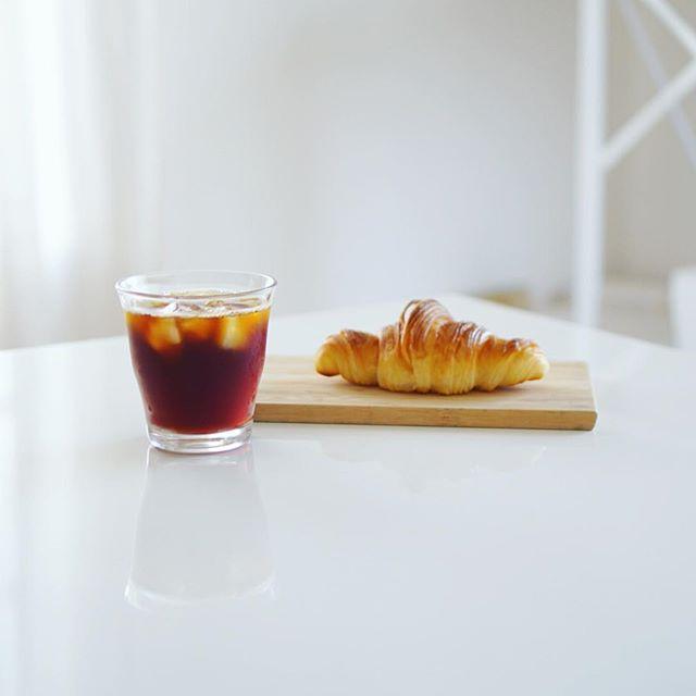GONTRAN CHERRiERのクロワッサンでグッドモーニングコーヒー。うまい! (Instagram)