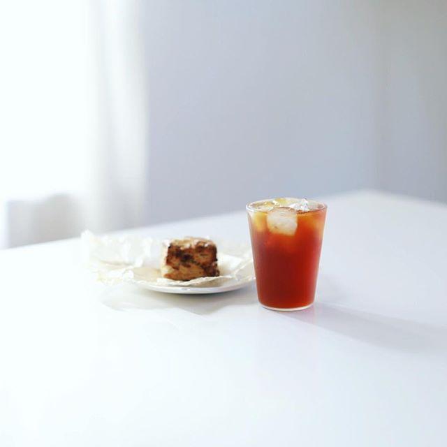 Maison YWEのジンジャークロッカンでグッドモーニングアイスコーヒー。うまい! (Instagram)