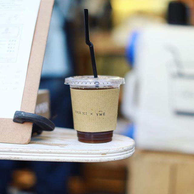 大須のHAIR ICI LUCEでやってるMaison YWEのコーヒースタンドでアイスコーヒー休憩。うまい!#オニマガ名古屋散歩 (Instagram)