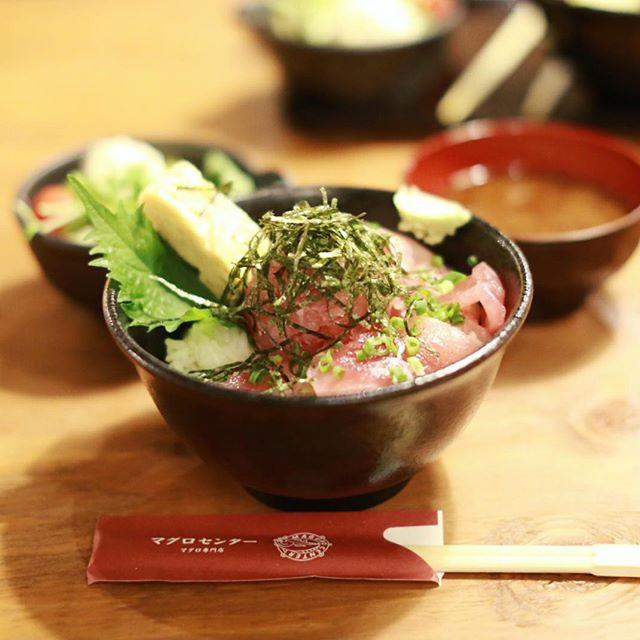 栄の #マグロセンター にランチしに来たよ。マグロ丼、うまい!#オニマガ名古屋散歩 (Instagram)