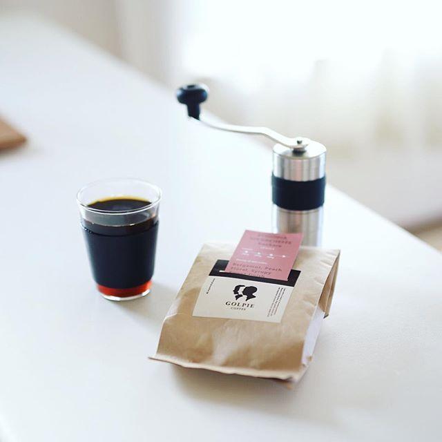 グッドモーニングコーヒー。今日からの豆はゴルピーコーヒーのエチオピアイルガチェフコチャレ。うまい! (Instagram)