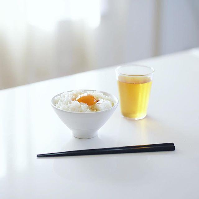 小原のたまごでグッドモーニング卵かけごはん。うまい! (Instagram)