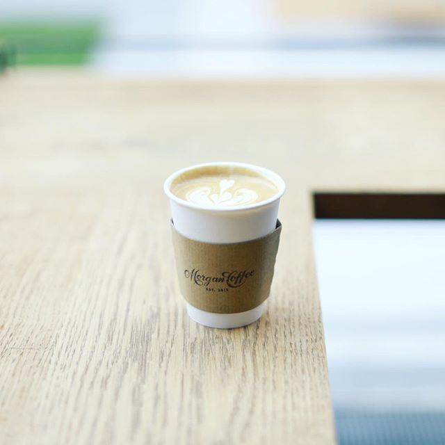 星ヶ丘のMorgan Coffeeでコーヒー休憩。カフェラテ、うまい!#オニマガ名古屋散歩 (Instagram)