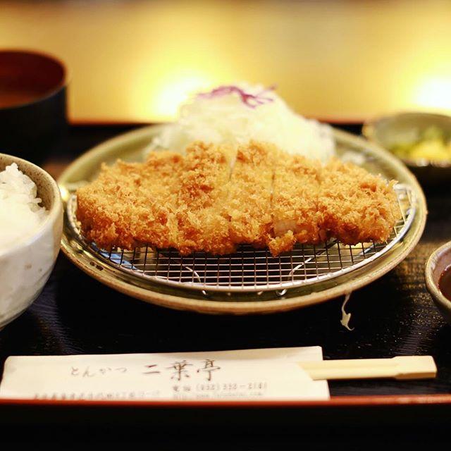鶴舞の二葉亭にとんかつ食べに来たよ。味噌ロースカツ定食。うまい!#オニマガ名古屋散歩 (Instagram)