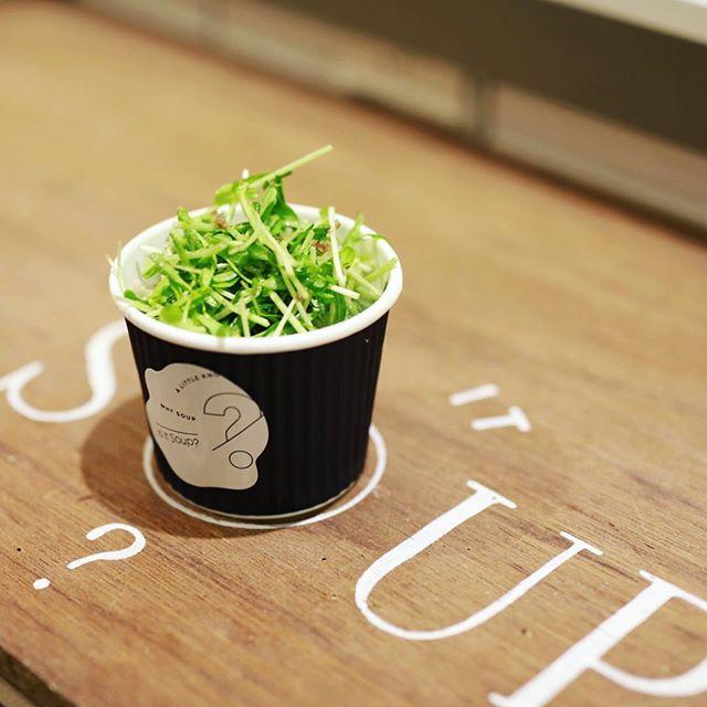 Is it soup?で食後のデザートにサラダ豚汁。うまい!#オニマガ名古屋散歩 (Instagram)