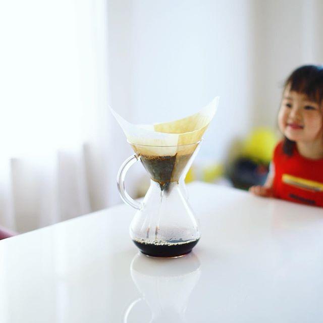 グッドモーニングケメックスコーヒー。半年やった奥様のZIP-FMのコーナーも今日で無事終了。うまい! (Instagram)