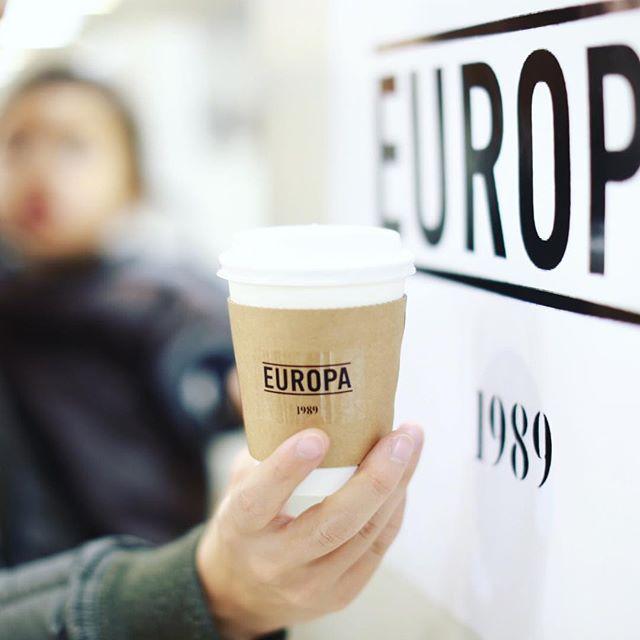 #cafeeuropa1989 JR名古屋タカシマヤの北欧展に来たよ。Cafe Europa 1989のコルタドでコーヒータイム。うまい!#オニマガ名古屋散歩 (Instagram)