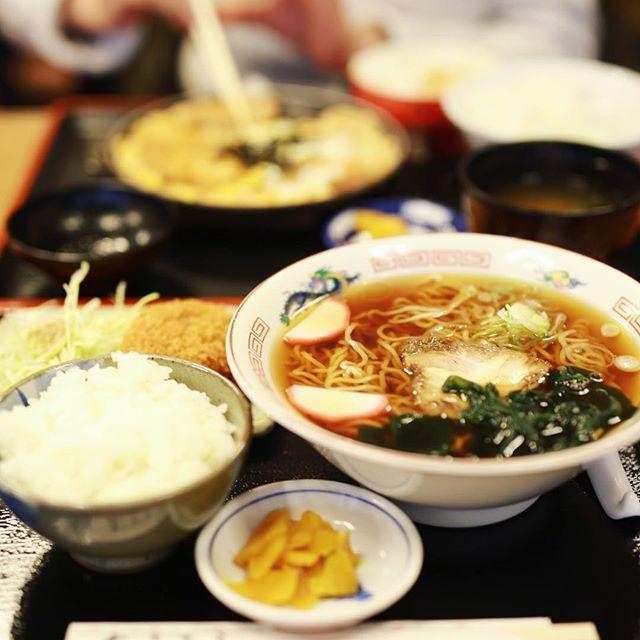 大須の互楽亭にランチしに来たよ。中華そば定食。うまい!#オニマガ名古屋散歩 (Instagram)