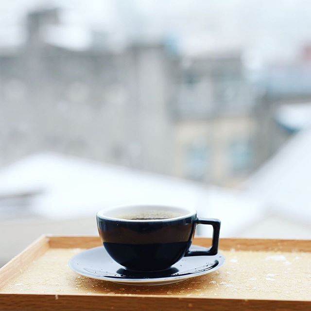 グッドモーニングコーヒー。雪の名古屋。うまい! (Instagram)