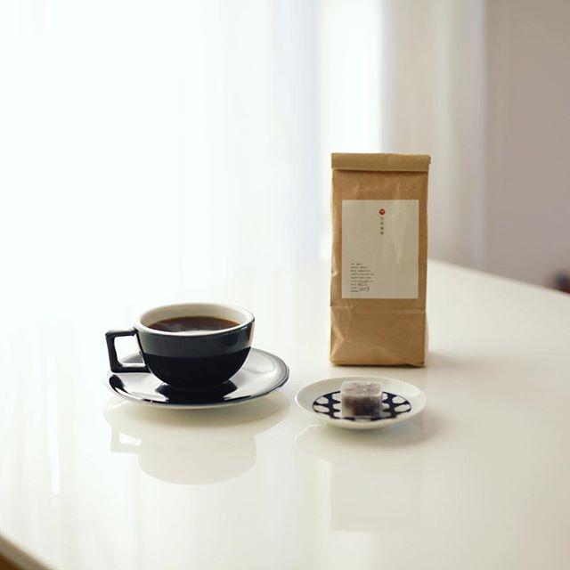 グッドモーニングコーヒー。広島土産でもらった宮島珈琲と石川土産でもらった加賀紫雲石。ベストマッチ。うまい! (Instagram)