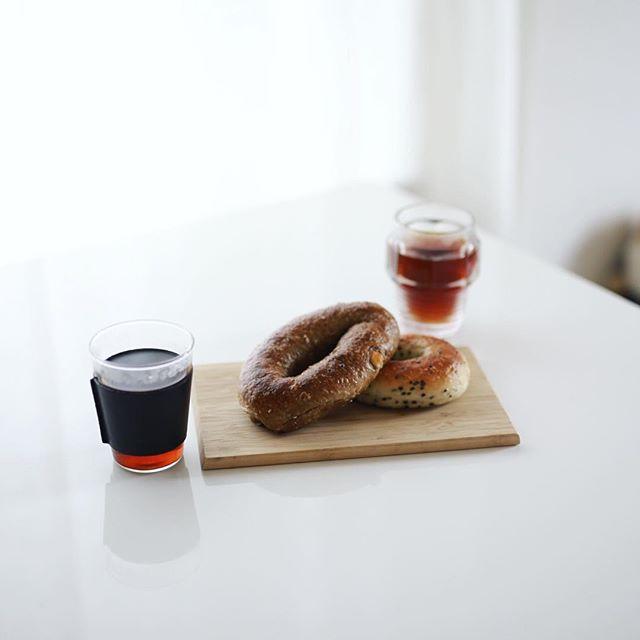 #MaruBagel 久々のマルベーグルでグッドモーニングコーヒー。うまい! (Instagram)