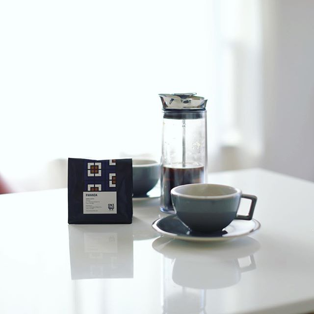 昨日オニバスコーヒーのアメリカンプレスワークショップで教えてもらったレシピでグッドモーニングコーヒー。うまい!#americanpress #onibuscoffee #maisonywe #doyoulikecoffee (Instagram)