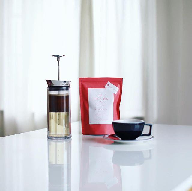 グッドモーニングコーヒー。今日から豆はトランクコーヒーのケニアKAINAMUI。うまい! #americanpress #trunkcoffee (Instagram)