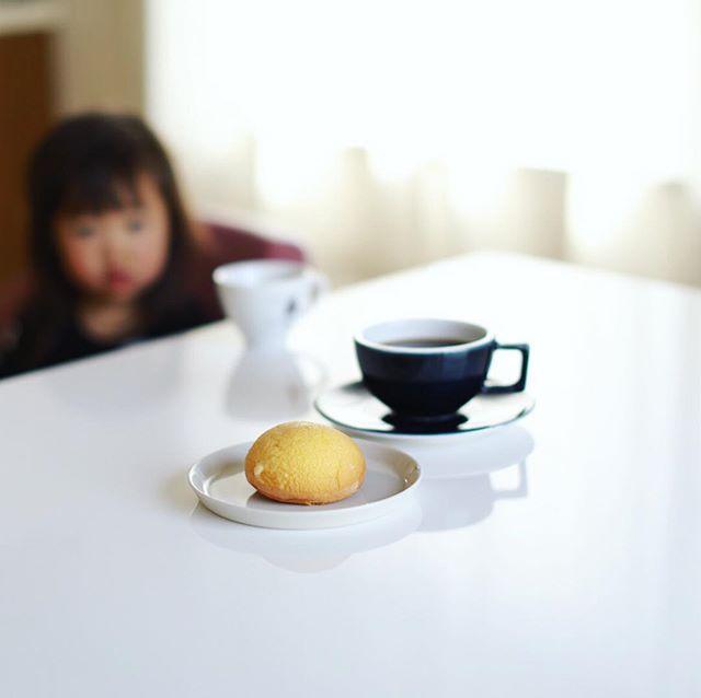 浄心名物グルッペのパフルーンでグッドモーニングコーヒー。うまい! (Instagram)