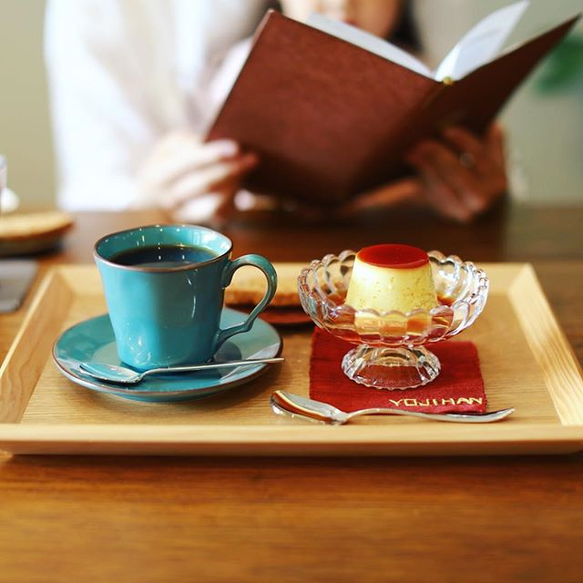 喫茶ヨジハン文庫でプリン&コーヒーの読書タイム。うまい!#オニマガ岐阜散歩 (Instagram)