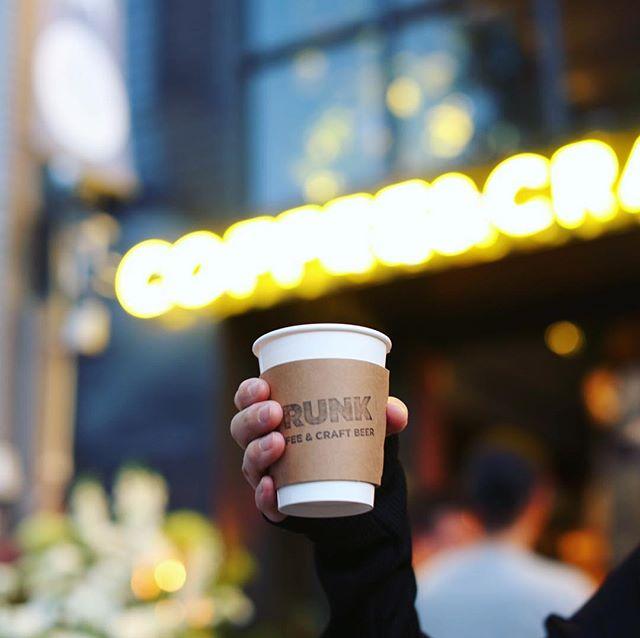 上前津にできたTRUNK COFFEE & CRAFT BEERのレセプションに来たよ。夜のコーヒータイム。うまい!#オニマガ名古屋散歩 ー#trunkcoffeeandcraftbeer #trunkcoffee (Instagram)