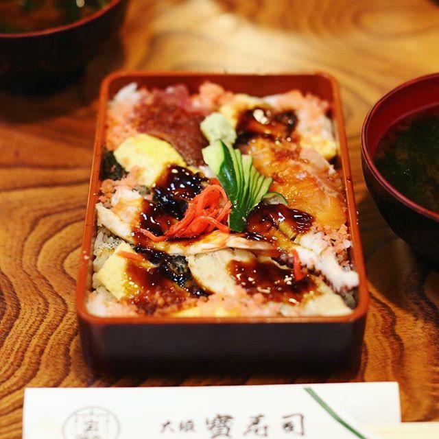 大須寶寿司にちらし寿司ランチしに来たよ。うまい!#オニマガ名古屋散歩 (Instagram)