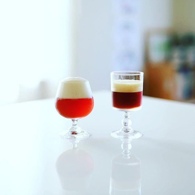 グッドモーニングカフェシェケラートとコーヒーソーダ。うまい! (Instagram)