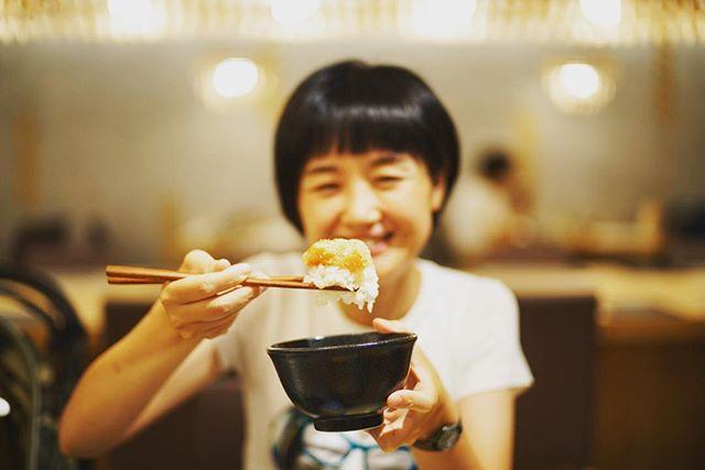 名古屋パルコのごはんとわたしで夜ごはん。やまやの明太子と白ごはんを食べまくり。うまい! (Instagram)