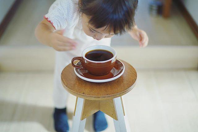 グッドモーニングコーヒー。写真撮ってたら『いいにおい〜』と香りを嗅ぎに来た人。うまい! (Instagram)