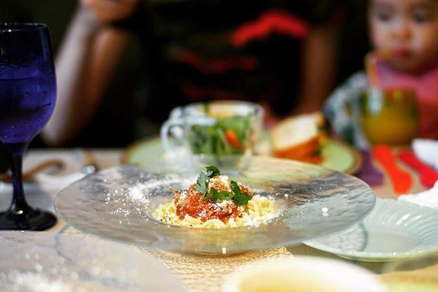 新栄のLe Couple DATE ルクプルダテにランチしに来たよ。飛騨牛ミートソースの冷製パスタ&サラダ&スープ&サンドイッチ。うまい! (Instagram)
