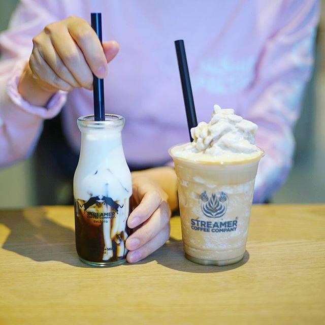 ストリーマーコーヒーで3時のコーヒーゼリー&フラッペ休憩。うまい!#オニマガ名古屋散歩 (Instagram)