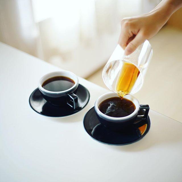 グッドモーニングコーヒー。子どもが起きてこない静かな朝。うまい! (Instagram)