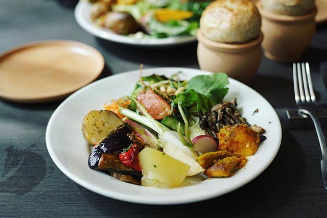 ささしまのグローバルゲートのMEDIにランチしに来たよ。屋上テラスの農園で採れた無農薬野菜を使った12種類の前菜ビュッフェ+メイン料理。野菜モッリモリ!うまい!#オニマガ名古屋散歩 #オニマガ名駅散歩 (Instagram)