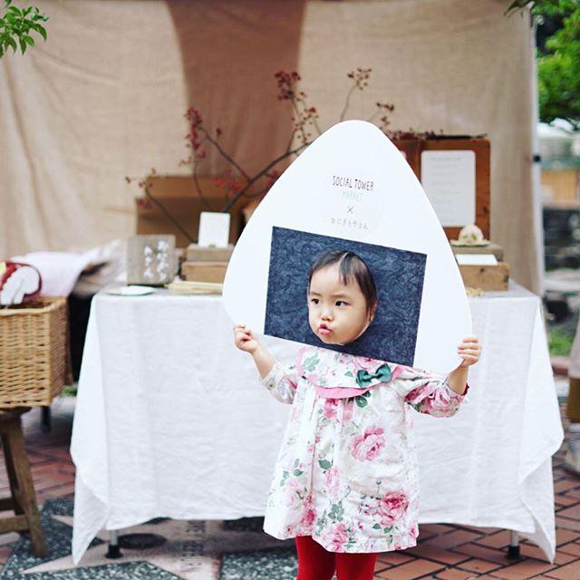 我が子はおにぎりやさんで梅なめたけにぎり。うまい!#オニマガ名古屋散歩 #おにおにパネル (Instagram)