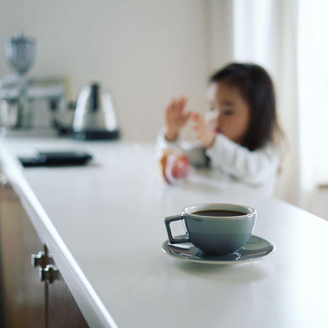 グッドモーニングコーヒー。キテます、ハンドパワーです。うまい! (Instagram)