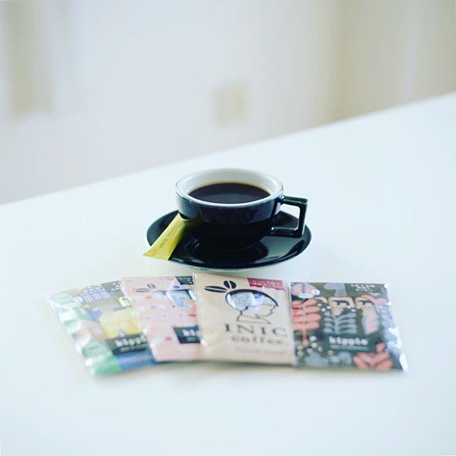 グッドモーニングコーヒー。INIC coffee初体験。kippis スカンジナビアンディライト。うまい! (Instagram)